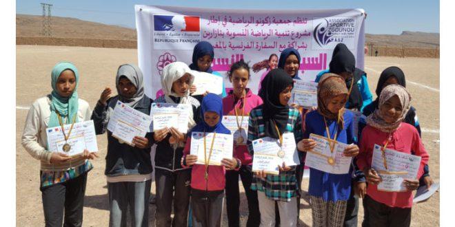 La course féminine à la capitale du henné en partenariat avec l'ambassade de France au Maroc