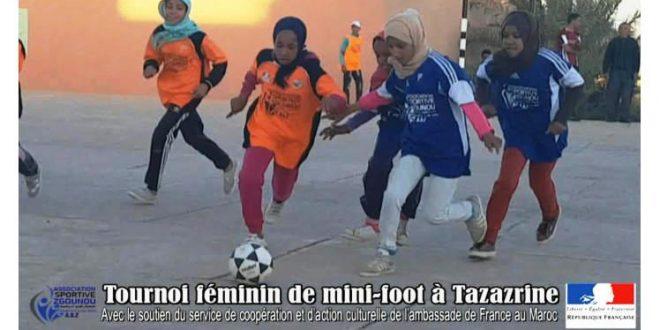 Vidéo: Tournoi féminin de mini-foot à Tazarine 11 avril 2018