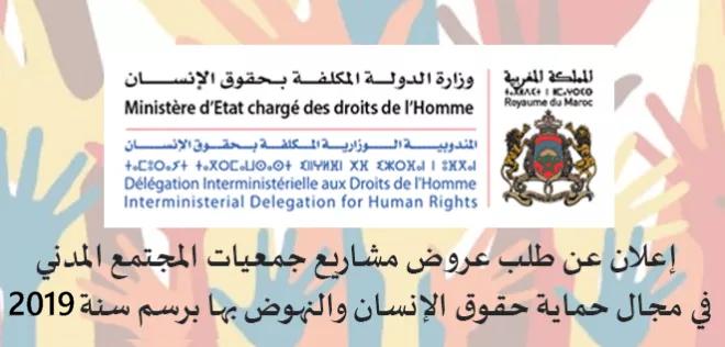 Appel à projets pour la promotion et la protection des droits de l'Homme au titre de l'année 2019